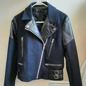 Victoria Beckham Leather Wool Jacket